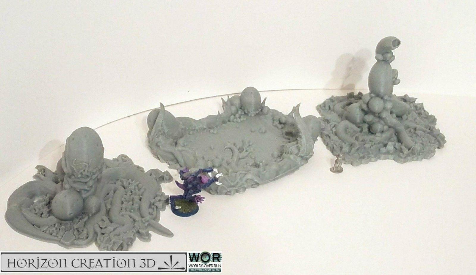 HC3D-WOR Thorn Uova & Pool-Alieno  WARgiocoS miniature Paesaggio 40k 28 mm 15 mm  in vendita scontato del 70%