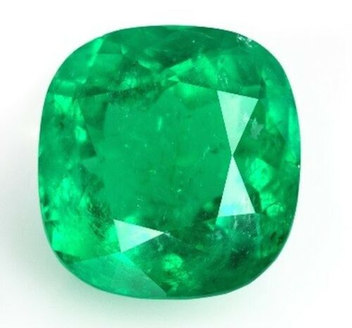 3x3-12x12 Lab Created Hydrothermal Colombian Emerald Cushion Loose Stones