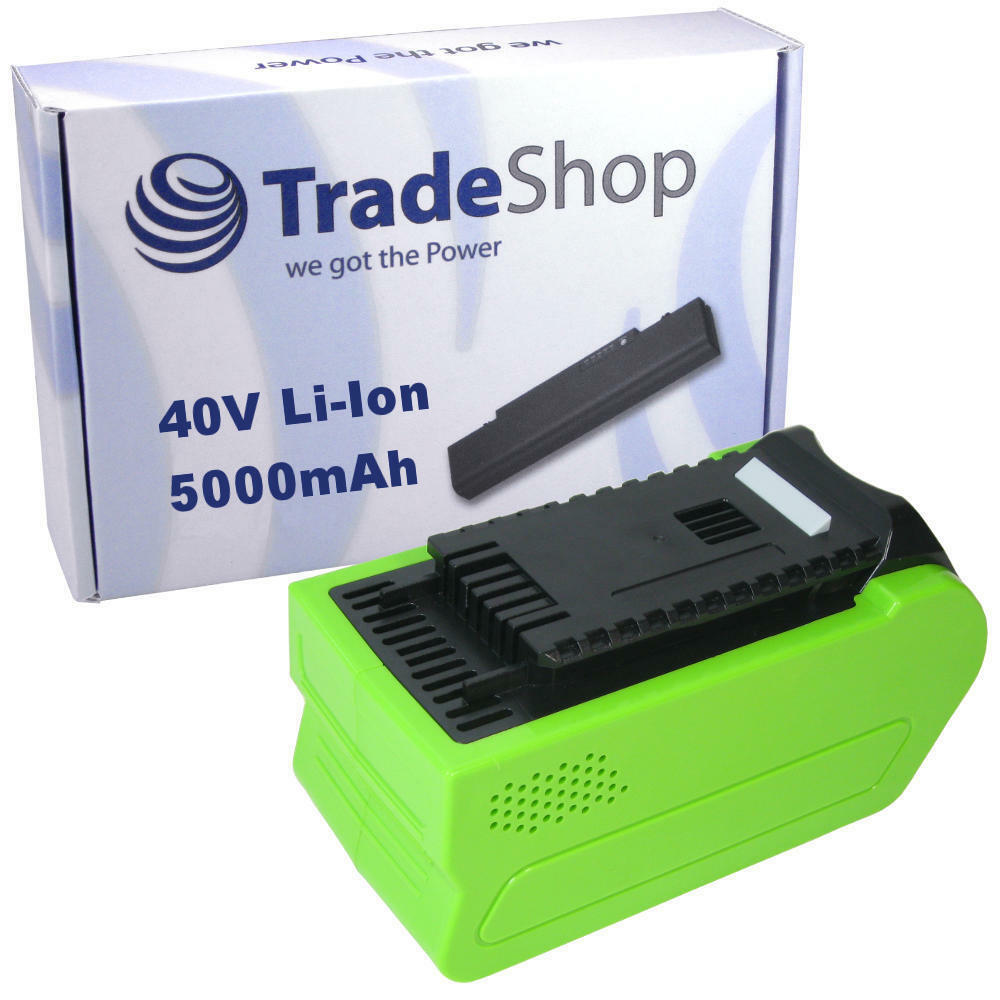 AKKU 40V 5000mAh Li-Ion für Grünworks Tools G-MAX 45cm Rasenmäher 2500107