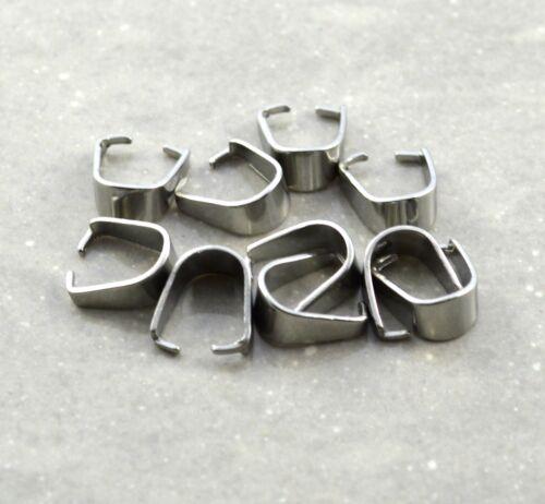 10 x Edelstahl Ketten Ösen für Anhänger Silber 3 Größen