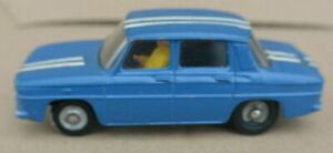 Dinky Toys Tres Rare Renault R8 Gordini Bleue Rayure Blanche N°1414 1/43