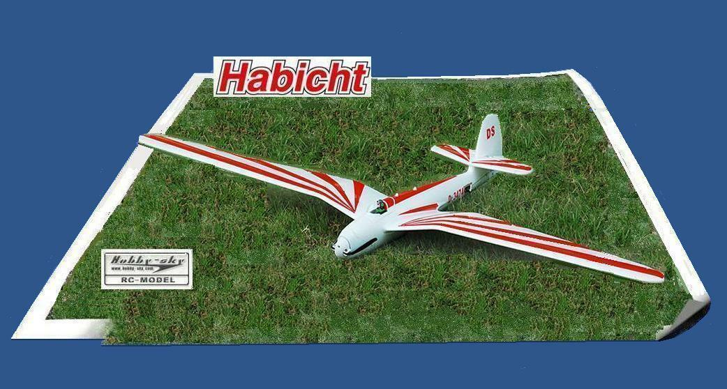 Hobby Sky Habicht (Red) Glider PNP Version  1480 mm