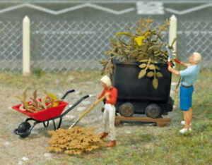 Set-Mini-Giardinieri-Mini-Welt-Scala-HO-1-87-Busch-7719-Nuova