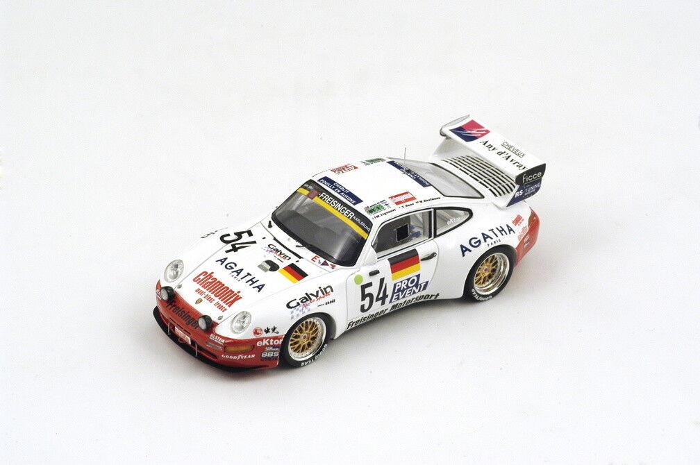 Porsche 911 Bi-turbo Bi-turbo Bi-turbo  54 19th Lm 1995 Kaufmann   Hane   Ligonnet 1 43 Model 3706ca