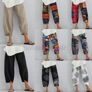 College-Femme-Pantalon-Loisir-Asymetrique-Taille-elastique-Jambe-Large-Plus