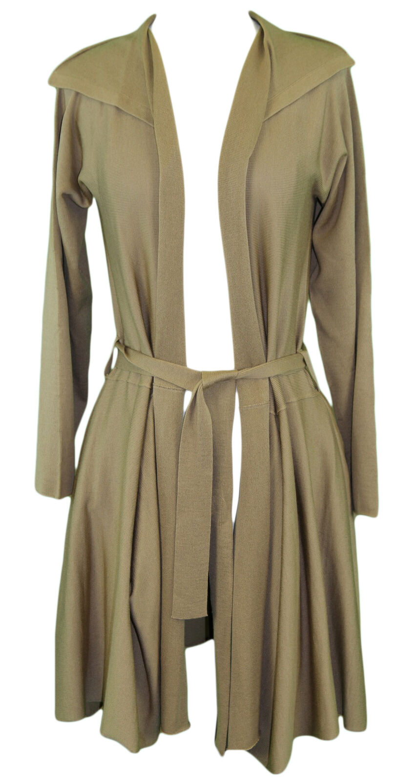 94f89696d PIER ANTONIO GASPARI Women s Camel Belted Fly Cardigan NWT Duster ...