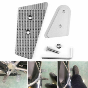 Rear Brake Lever Pedal Extension Enlarge pad For BMW R1200GS 2013-2017 Silver A0