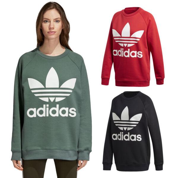 100% Verdadero Adidas Originals Trefoil Sweat Señora-sudadera Suéter Sweater-rt Pullover Sweaterver Por Proceso CientíFico