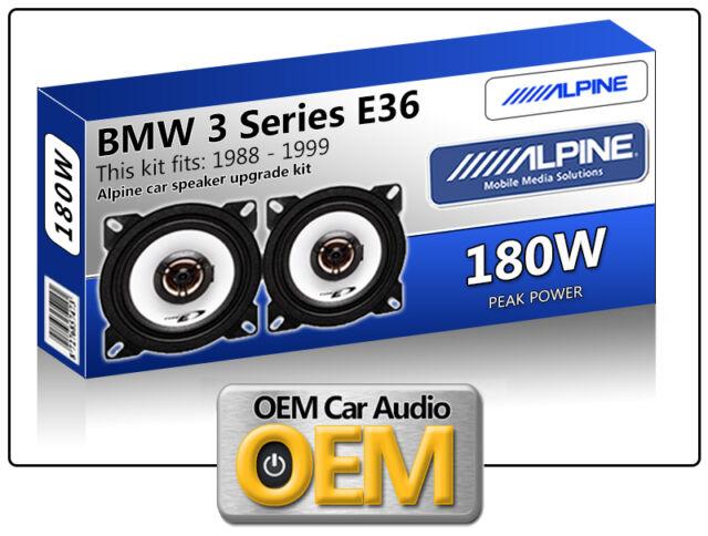"""BMW 3 Series E36 Rear Side Shelf speakers Alpine 10cm 4"""" car speaker kit 180W"""