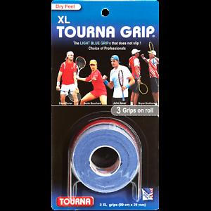 Diplomatique Tourna Grip Original Xl Dry Feel - 3 Pack-bleu-raquette De Tennis Overgrips-afficher Le Titre D'origine Vente D'éTé SpéCiale