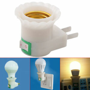 Solar Water Heater Parts E27 Female Socket To Eu Plug Adapter With Power On-off Control Switch New Home Appliances