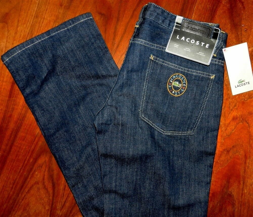 Jeans Low Boot Stretch Denim Lacoste Misses size 32x33 NWT