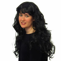 Women's Sexy Long Wavy Black Wig Fancy Dress Party Style Full Ladies Wig