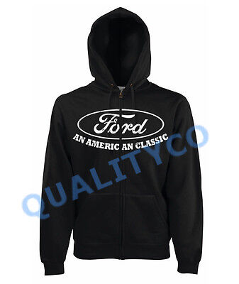 Ford Mustang Hoodie CLASSIC Mens Size S-2XL Various Colors Made in the USA