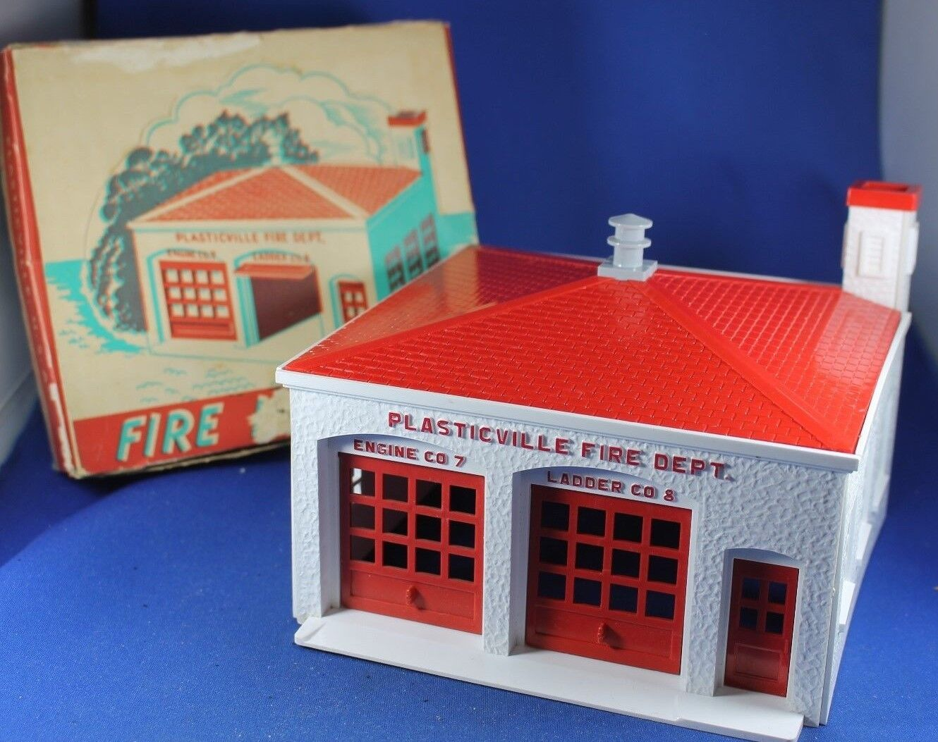 Plasticville -  FH-4 Fire House - Gris SIREN - Very Rare Collector's Piece