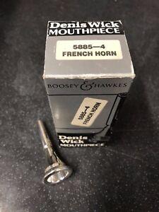 Industrieux Denis Wick 4 French Horn Mouthpiece-neuf, Non Utilisé Plaqué Argent --,unused Silver Plated- Fr-fr Afficher Le Titre D'origine Une Gamme ComplèTe De SpéCifications