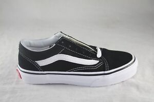 5018dfb93f Image is loading YOUTH-VANS-CANVAS-OLD-SKOOL-BLACK-TRUE-WHITE-