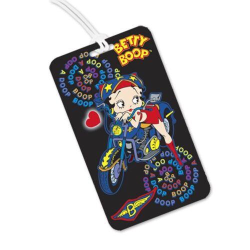 Motorcycle Flip Betty Boop Lenticular Luggage Tags #BB-206-LT#