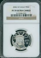 2006-W $50 PLATINUM EAGLE 1/2 Oz. STATUE OF LIBERTY NGC PF70 PROOF PR70