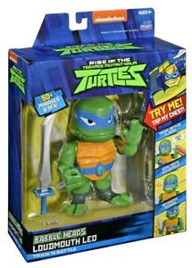 Rise Of The Teenage Mutant Ninja Turtles Leonardo Babble Head Figure 50 Phrases Ebay