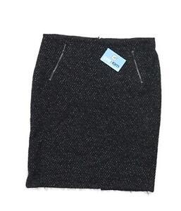 Marks-amp-Spencer-Womens-Size-14-Wool-Blend-Black-Pencil-Skirt-Regular