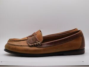 Cole Haan Driving Loafers Mens 10D Brown Leather Moc Slip On Casual Shoe