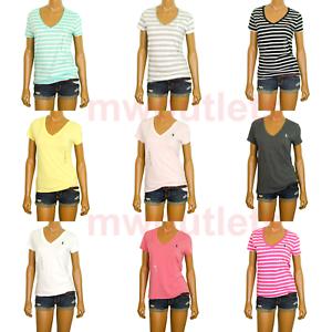 NWT-Ralph-Lauren-Womens-T-Shirt-Jersey-Tee-V-Neck-Short-Sleeve-XS-S-M-L-XL