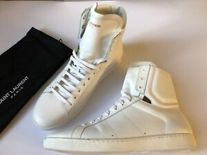 SAINT-LAURENT-Signature-Classic-SL-01H-High-Top-Leather-Sneakers-weiss-43-NEU