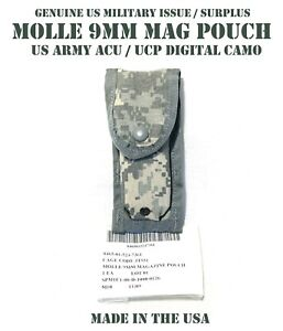 US Army Military ACU Digital Camo Molle 9mm Single Mag Pistol Magazine Pouch NEW