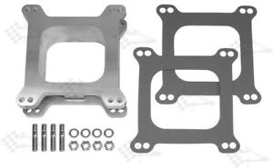 2-034-Two-Inch-Aluminium-Carb-Spacer-Kit-Open-Centre-Holley-Edelbrock-4-bbl