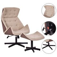 Executive Leisure Chair Lounge Leisure Chair Adjustable Height Swivel W/ottoman