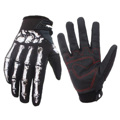 Men Outdoor Winter Waterproof Windproof Skull Zombie Bone Gloves Riding Gloves