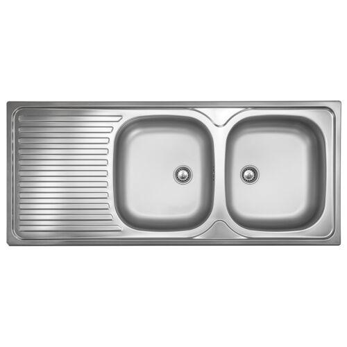 ED 500 PlusSpüle Edelstahl 2 Becken Spülbecken Doppelbecken Küchenspüle