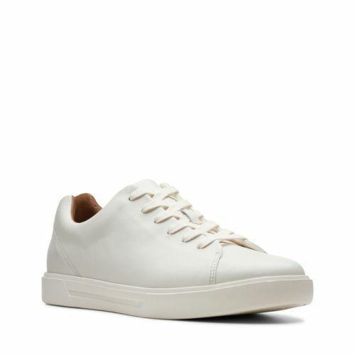 CLARKS HOMME DE L'ONU Costa dentelle en Cuir Blanc Chaussures Sport 26140164