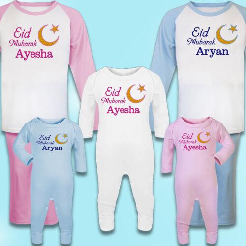 keepsake Personalised Embroidered 100/% Cotton Pyjamas Eid Mubarak gift