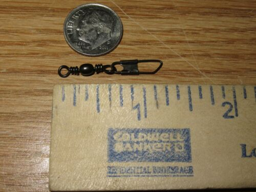 10 BLACK SNAP SWIVELS BARREL SWIVEL WITH SAFETY SNAP SIZE 10 SNAPS QUICK CLIP