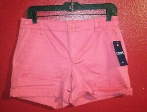 Chaps-Ralph-Lauren-Women-039-s-Denim-Casual-Shorts-Size-2-Amalfi-Red-New-with-Tags