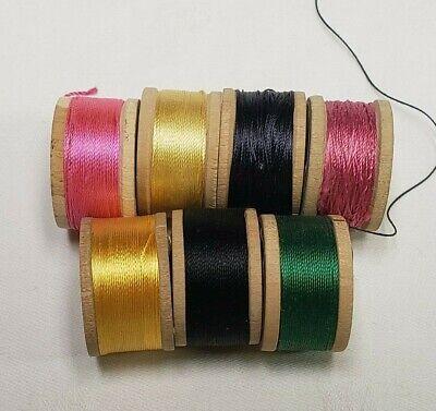 Vtg Belding Corticelli Pure Silk Thread Spool ~ Sz B ~ 520 Yds ~ #9840 Green