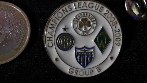 UEFA Champions League Pin Badge 2008//09 SV Werder Bremen Internazionale Athen