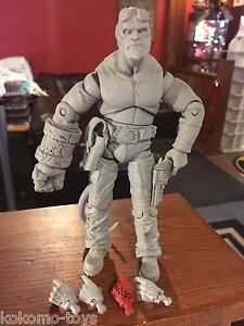 Prototype Test Shot Figure Hellboy Mezco 2005 poing fermé, bouche fermée # x170