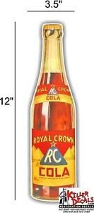 "RC-4 12/"" RC COLA ROYAL CROWN BOTTLE MACHINE SODA POP STICKER DECAL"