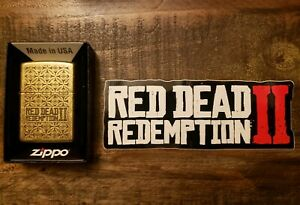 Red-Dead-Redemption-2-Rare-ZIPPO-Lighter-amp-Metal-Match-Box-SOLD-OUT-COMBO