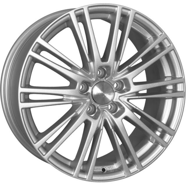 Wheelworld WH18 8,5x19 5x112 ET45 RS silber Audi A4 A6 Mercedes B- C- E- S-Kla