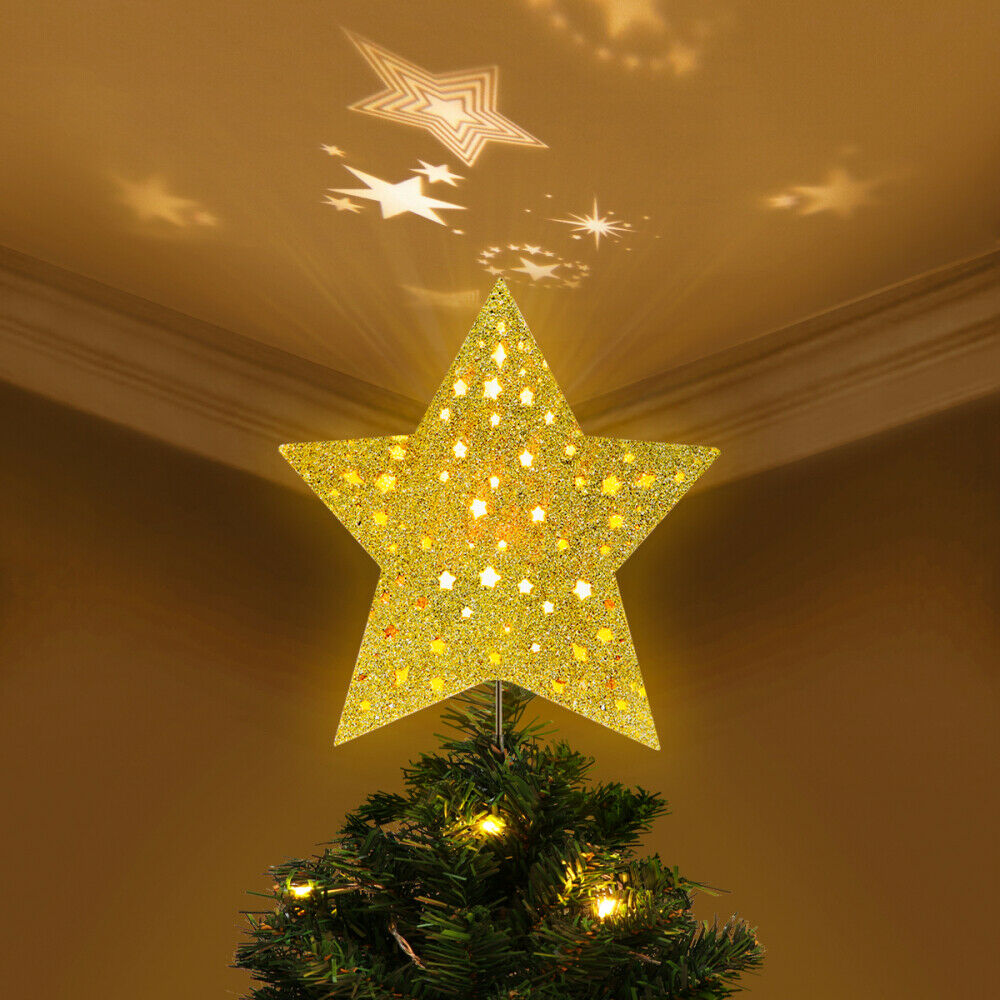 Lighted Star Treetop Tree Topper Double Sided Gold For Sale Online Ebay
