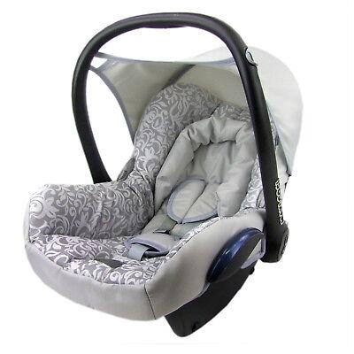 bambiniwelt ersatzbezug bezug maxi cosi cabriofix babyschale silber mosaik ebay. Black Bedroom Furniture Sets. Home Design Ideas