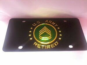 UNITED STATES ARMY Laser Cut License Plate New! Military