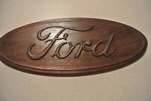 American Made Ford Walnut Sign Homemade