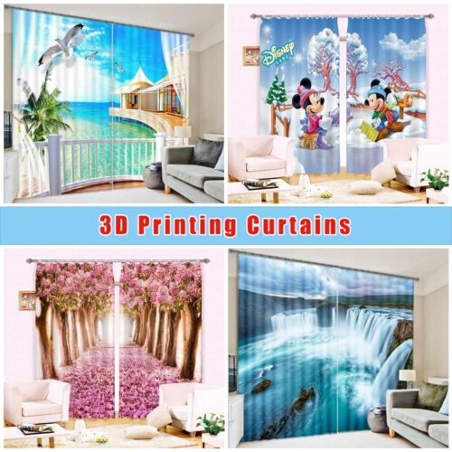 3D Red rose 64 Blockout Photo Curtain Printing Curtains Drapes Fabric Window US