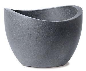 scheurich pflanzk bel 250 wave globe schwarz granit blumenk bel blumentopf ebay. Black Bedroom Furniture Sets. Home Design Ideas