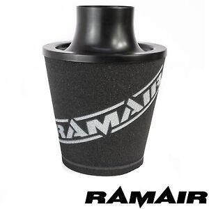 RAMAIR-Schwarz-M-Aluminium-Induktionsluftfilter-Universal-80Mm-MM-Hals